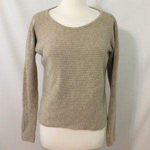 Athleta Knit Pullover Sweater XS Beige